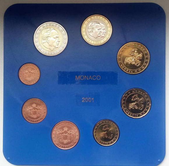 Предлагаю редкий комплект евро Монако 2001  по лучшей цене ! Всего 11.000. *Найдете дешевле-обсудим