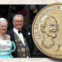 Читать новость нумизматики - Золотая свадьба датских монархов на памятной монете