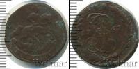 Монета 1762 – 1762 Петр III Федорович 1 деньга Медь 1762