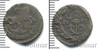 Монета 1741 – 1761 Елизавета Петровна 1 полушка Медь 1761