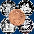 Монеты СССР. Олимпиада 1980 в Москве. Из серебра и золота