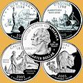 Монеты США. 25 центов. Штаты США