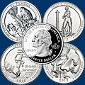 Монеты США. 25 центов Парки