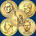 Монеты 1 доллар. Президенты