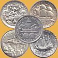 Серебреные монеты США 1/2 доллара. Коммератив