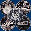Медно-никелевые монеты США. 1/2 доллара. Коммератив