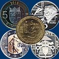 Монеты Евросоюза 5 евро