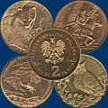 Монеты Польши. 2 злотых