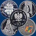 Серебяные монеты Польши. 10 злотых
