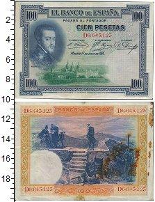 """Изображение Банкноты Испания 100 песет 1925  XF- <font face=""""arial, s"""