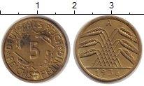 Изображение Монеты Веймарская республика 5 пфеннигов 1936 Медь XF