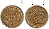 Изображение Монеты Веймарская республика 10 пфеннигов 1924 Медь VF