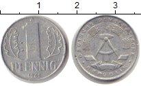Изображение Монеты ГДР 1 пфенниг 1968 Алюминий VF А