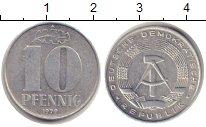 Изображение Монеты ГДР 10 пфеннигов 1979 Алюминий XF