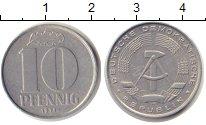Изображение Монеты ГДР 10 пфеннигов 1971 Алюминий UNC