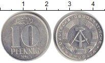 Изображение Монеты ГДР 10 пфеннигов 1982 Алюминий XF