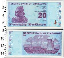 Изображение Банкноты Зимбабве 20 долларов 2009  UNC- Электоростанция