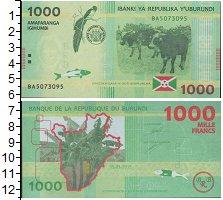 Изображение Боны Бурунди 1000 франков 2015  UNC- Коровы