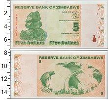 Изображение Банкноты Зимбабве 5 долларов 2009  UNC- Балансирующие камни.
