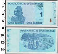 Изображение Банкноты Зимбабве 1 доллар 2009  UNC-