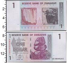 Изображение Банкноты Зимбабве 1 доллар 2007  UNC- Бык