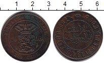 Изображение Монеты Нидерландская Индия 2 1/2 цента 1908 Медь XF-