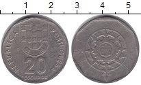 Изображение Монеты Португалия 20 эскудо 1987 Медно-никель VF
