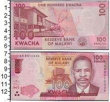 Изображение Банкноты Малави 100 квач 2014  UNC-