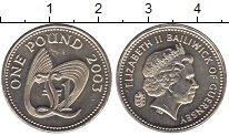 Изображение Мелочь Великобритания Гернси 1 фунт 2003 Медно-никель UNC-