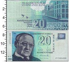Изображение Банкноты Финляндия 20 марок 1999  UNC-