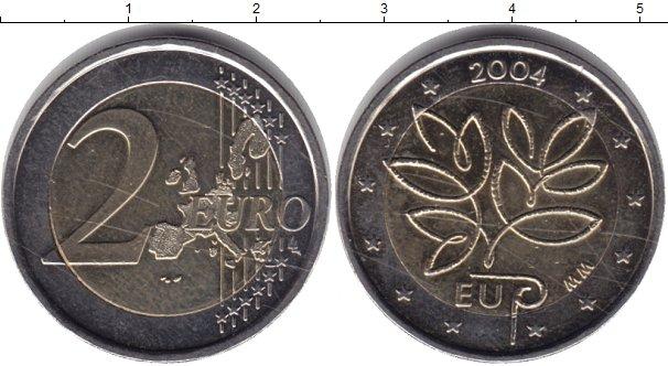 Картинка Монеты Финляндия 2 евро Биметалл 2004