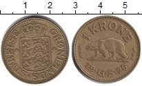 Изображение Монеты Дания Гренландия 1 крона 1926  XF