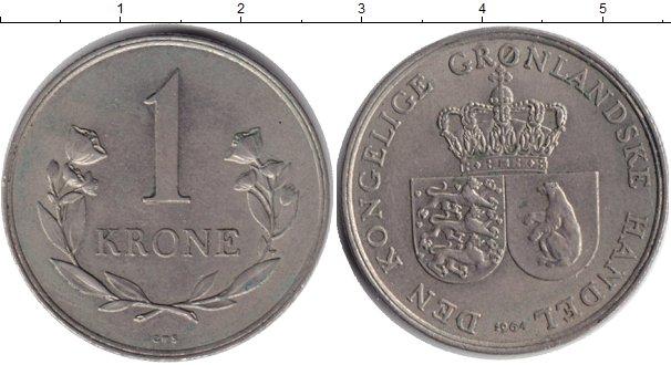 Картинка Монеты Гренландия 1 крона Медно-никель 1964
