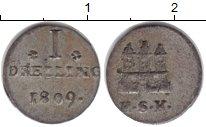 Изображение Монеты Гамбург 1 дрейлинг 1809 Серебро VF