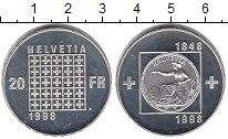Изображение Монеты Швейцария 20 франков 1998 Серебро Proof-
