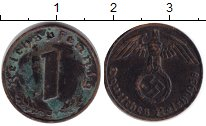 Изображение Монеты Третий Рейх 1 пфенниг 1938 Медь VF