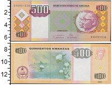 Банкнота Ангола 500 кванза 2011 UNC фото