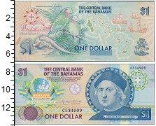 Изображение Банкноты Багамские острова 1 доллар 0  UNC- Христофор Колумб. Пр