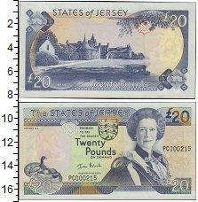 Изображение Боны Остров Джерси 20 фунтов 0  UNC- Елизавета II