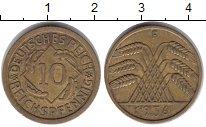 Изображение Монеты Веймарская республика 10 пфеннигов 1936  XF