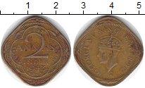 Изображение Монеты Индия 2 анны 1943 Медь VF