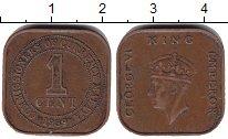 Изображение Монеты Малайя 1 цент 1939 Медь VF