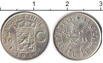 Изображение Монеты Нидерландская Индия 1/10 гульдена 1942 Серебро XF Герб с короной - над