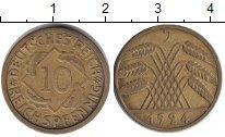 Изображение Монеты Веймарская республика 10 пфеннигов 1924  XF