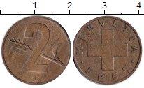 Изображение Монеты Швейцария 2 раппа 1957  XF