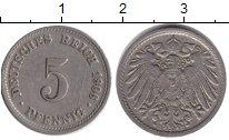 Изображение Монеты Германия 5 пфеннигов 1906 Медно-никель XF