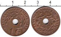 Изображение Монеты Нидерландская Индия 1 цент 1942 Медь XF