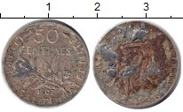 Изображение Монеты Франция 50 сантим 1907 Серебро