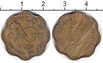 Изображение Монеты Цейлон 10 центов 1951  VF