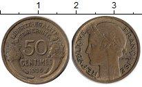 Изображение Монеты Франция 50 сантим 1939  XF